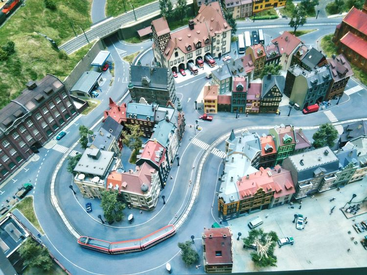 High Angle View Architecture Aerial View Street Road Built Structure Cityscape No People City Miniversum Modelling Transportation Modeling