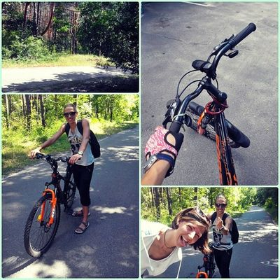 Кардио выходного дня))) всегда найдётся такой друг ....который запортачит фотку))))) велосипед велотур кончазаспа Лес тропаздоровья выходной друзья кардио отличныйдень спорт солнышко природа отдых