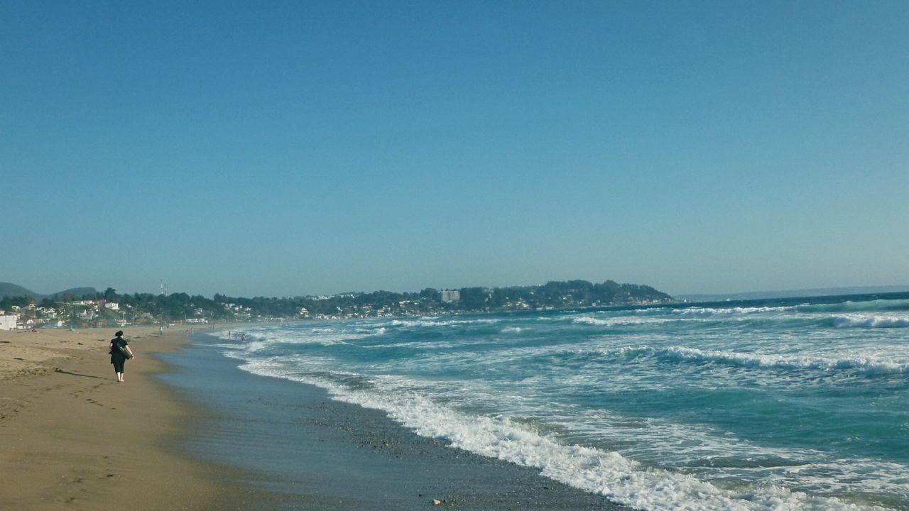 Beach Against Clear Sky