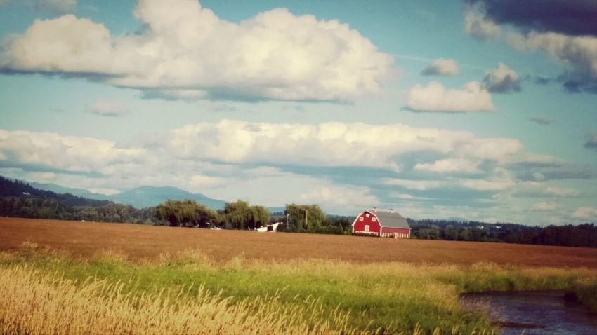 Red Barn Country Cloud And Sky Sky_ Collection