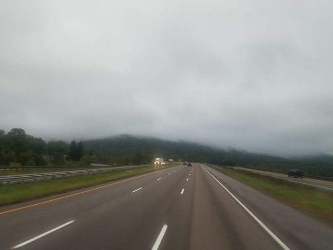 Road Highway Car The Way Forward Accidents And Disasters Cloud - Sky Landscape Photography Themes Extreme Weather Transportation Outdoors Fog No People Scenics Storm Cloud Day Sky Hurricane - Storm Road Sign Police Force
