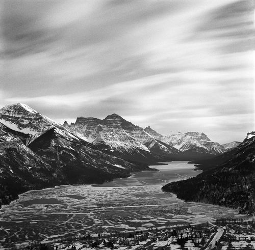 What I remember best is the mournful sound of the constant wind and its biting teeth in my face and hands. I miss it greatly. Hasselblad 500C / Kodak Tri-X Alberta Beauty In Nature Black And White Canada Canadian Rockies  Cloud - Sky Cloudy Film Film Photography Landscape Majestic Mountain Mountain Range Nature No People Outdoors Remote Scenics Season  Snowcapped Mountain Tranquil Scene Travel Photography Waterton Lakes National Park Winter