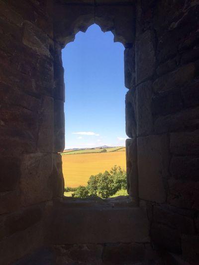 Raglan Castle Views Window View