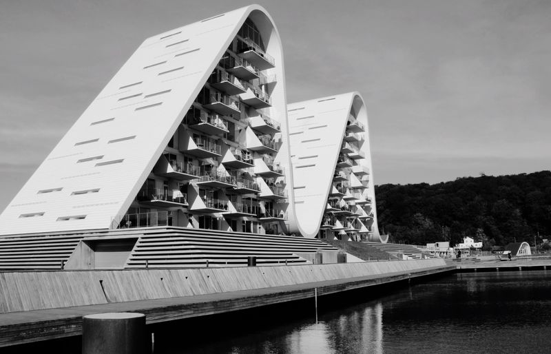 Architecture 'The Wave' Vejle Black & White Monochrome Two Is Better Than One