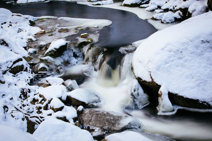 EyeEm Nature Lover Tadaa Community Beauty In Nature Cold Temperature Day Harz Long Exposure Motion Nature No People Outdoors River Scenics Snow Covered Snow Covered Landscape Tranquil Scene Tranquility Water Waterfall Winter