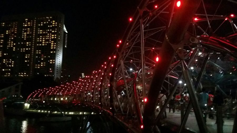 Helix Bridge Engineering Feat Dna Double Helix Structure All Lit Up Singapore Architecture Engineering The Week On Eyem Showcase August