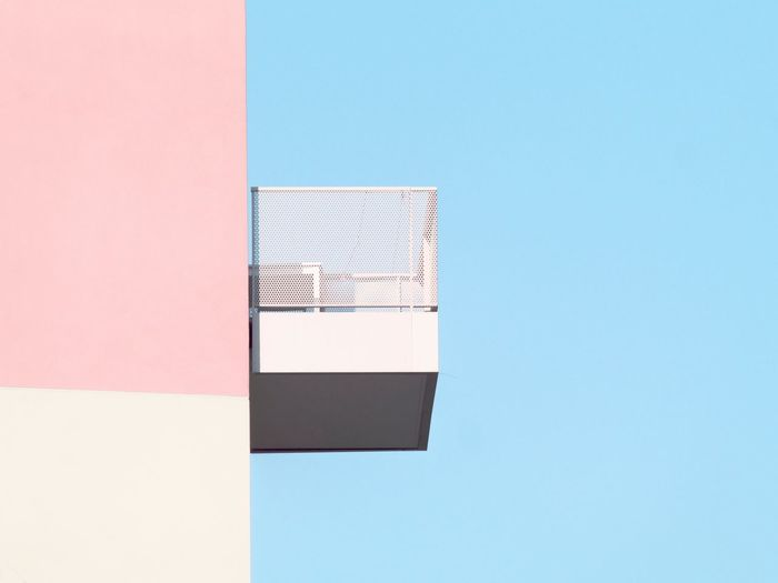 The Graphic City Art Is Everywhere Architecture Built Structure Building Exterior Copy Space Clear Sky No People Day Low Angle View Outdoors Blue Sky Architecture_collection Abstractions In Colors Minimalobsession Minimalism Minimalist Architecture Abstract Photography Architecture Abstract Multi Colored Balcony Pastel Break The Mold The Architect - 2017 EyeEm Awards