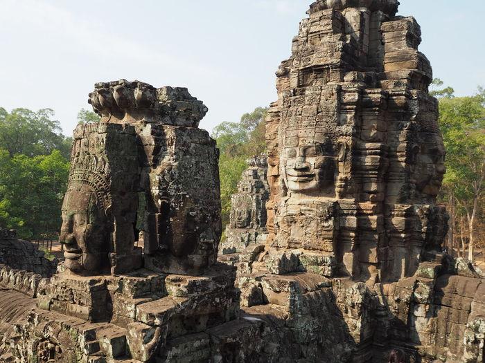 Bayon temple against clear sky