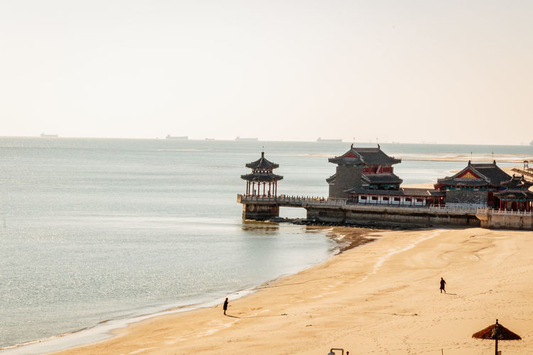 Ancient History Archaeological Site Architecture Castle Great Wall Hebei Sunlight Tourist Attraction Beach Beauty In Nature China Chinese Fortification Historic Site History Horizon Over Water Landmark Qinhuangdao Sand Scenics Sea Shanhaiguan Temple Water