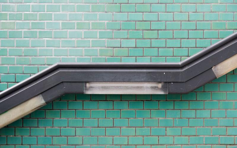 Railing on wall