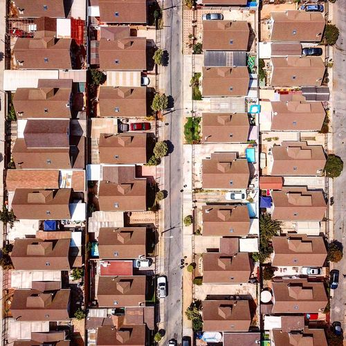 Directly above shot of houses