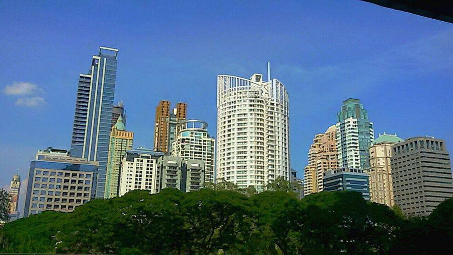 Foreground Of The City High Of Human Made And Nature Middle Of The City Cityscape