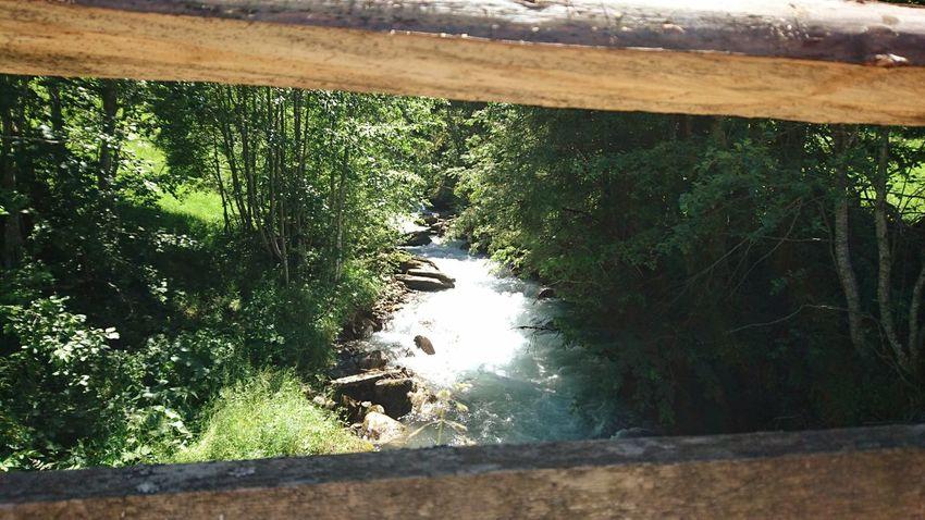 Bridge Over Water Iffigen River Lenk Simmental Switzerland