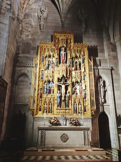 Religion Architecture Gothic Architecture Washington, D. C. Cathedral Altar Indoors  No People Medieval History Place Of Worship Day