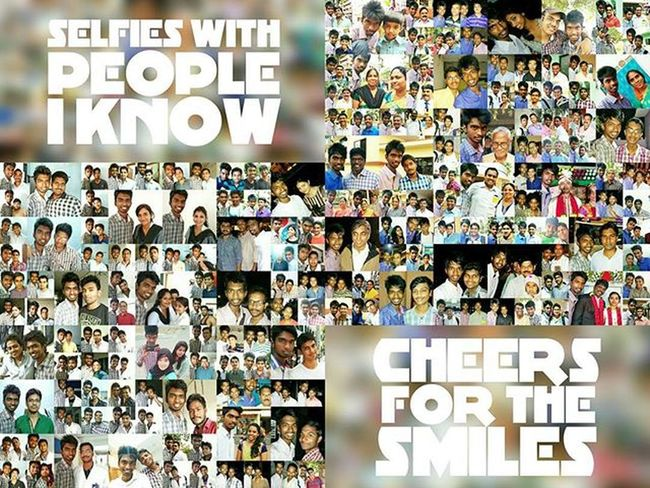 Cheers for the smiles! Selfie With People I Know Selfies 2015  Resolution Cheers Smile Fun Collage Picture Friends Family Everyone Year End Happy Excited