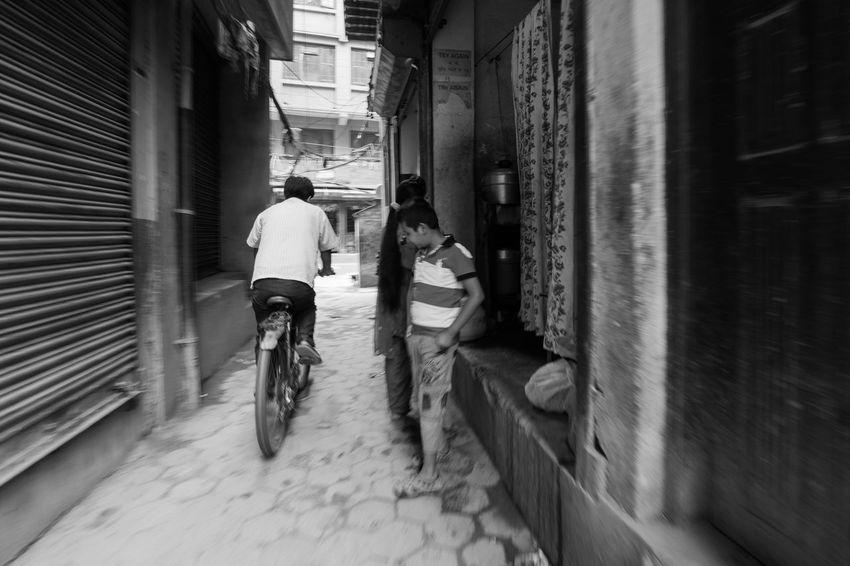 Bicycle Bike Celebrate Your Ride Lifestyles Men Narrow Nepal Nepal #travel Nepali People Nepali Way Nepaliculture Real People Riding Street The Way Forward Transportation Showcase March CyclingUnites The Street Photographer - 2018 EyeEm Awards It's About The Journey
