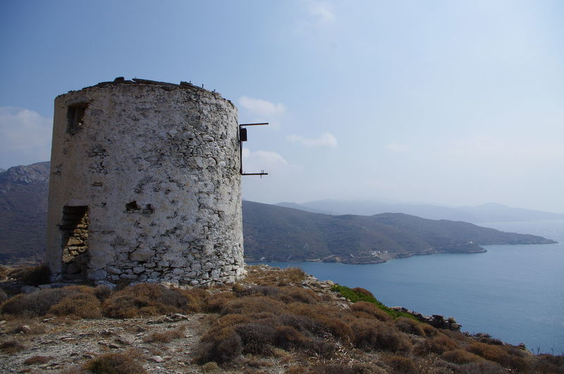 GREECE ♥♥ Griechenland Griechische Inseln Windmill Amorgos Amorgosisland Architecture Beauty In Nature Built Structure Day Greece Mountain Nature No People Outdoors Scenics Sea Sky