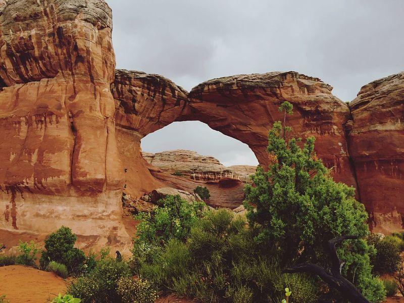 Rock formation in Moab, Utah
