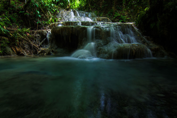 Backgrounds Beauty In Nature Blurred Motion Environment Forest Freshness Idyllic Landscape Long Exposure Motion Nature No People Outdoors Phillipines Rainforest Rock - Object Scenics Social Issues Stream - Flowing Water Travel Destinations Tree Tropical Rainforest Vacations Water Waterfall