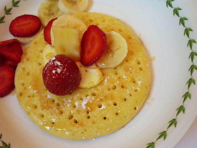 بان كيك بانكيك بان كيك😍 Pancake Fruits فراوله  Strawberry