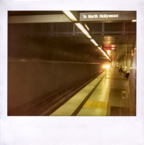 Architecture Blurred Motion Holly Illuminated On The Move Polaroid Spectra Redline Sign Speed Subway Subway Platform Subway Tracks Subway Train Technology Transportation Showcase: February
