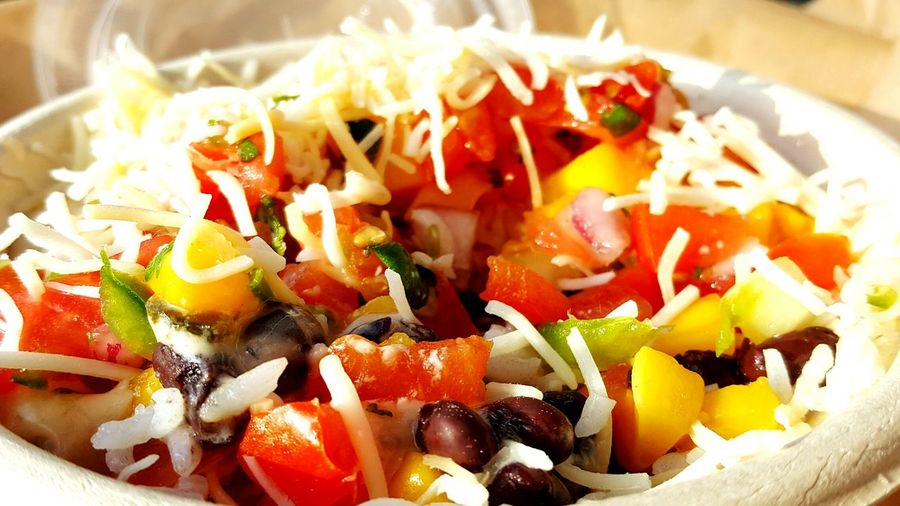 QDoba Love Burrito Bowl Beans And Rice Mango Salsa Qdoba Delicious Fresh Summer Fresh Summer Salad Pico De Gallo Yum Foodie #EyEm Premier #EyeEmSelects Homemade Food And Drink Chopped Spring Onion Salad Salad Bowl Taco Onion Shredded Cherry Tomato
