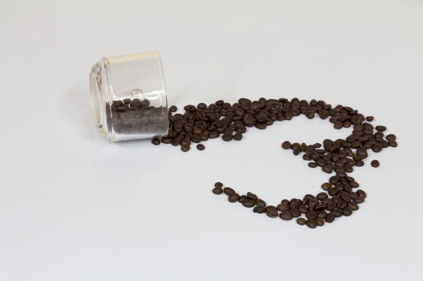 Coffe Beans Coffee Cup Drink Large Group Of Objects Love ♥ Studio Shot Valentine White Background