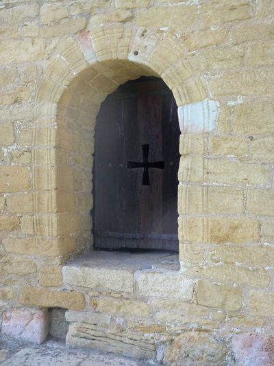 Asturian Cross Asturias Chapel Chruch Cross Church Window Sacral Windo Arch Architecture Building Exterior Built Structure Day History Indoors  Middle Ages Mysterious Chapel No People Sacral