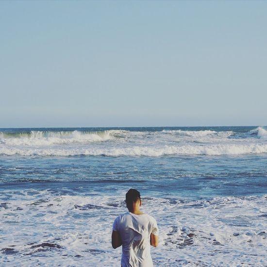 Marcer sur la mer