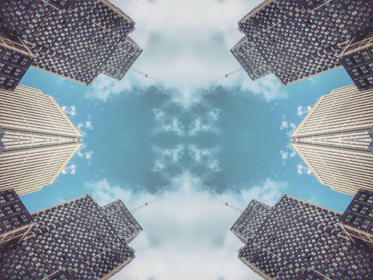 Pastel Power EyeEm Best Shots EyeEm Best Edits Skrwt Fun To Edit Chicago Chicago's Skyline Blue Sky Clouds Blue Pastel