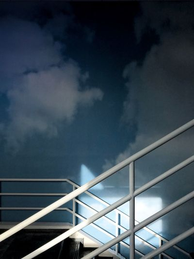 My mind can be everywhere_ Art Minimalist Architecture Minimalobsession Minimal Minimalism Clouds EyeEm Best Shots Getty Images Getting Creative The Week on EyeEm Cloud - Sky Sky Architecture Low Angle View Built Structure Bridge No People Connection The Creative - 2018 EyeEm Awards