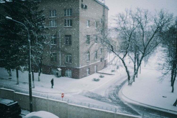 Russian Winter Russia Outdoors Extreme Weather Blizzard No People Road Street Day Residential District Motor Vehicle Transportation Car Nature Plant Building City Built Structure Snowing Building Exterior Tree Architecture Cold Temperature Winter Snow
