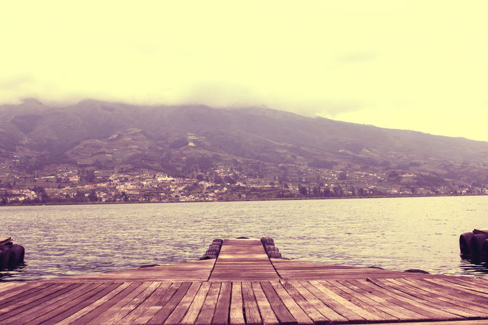 Lake View in Ecuador AllYouNeedIsEcuador Day Dock Docks Dockside Ecuador Lake Lake View Lakeshore Lakeside Lakeview Landscape Mountain Outdoors Pier San Pablo Scenery Scenics Sky Tranquil Scene Tranquility Water