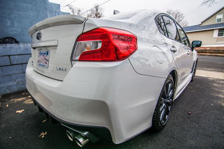 2017 Car Driveway Rear Corner View Subaru Impreza WRX Tail Lights Transportation White Crystal Pearl