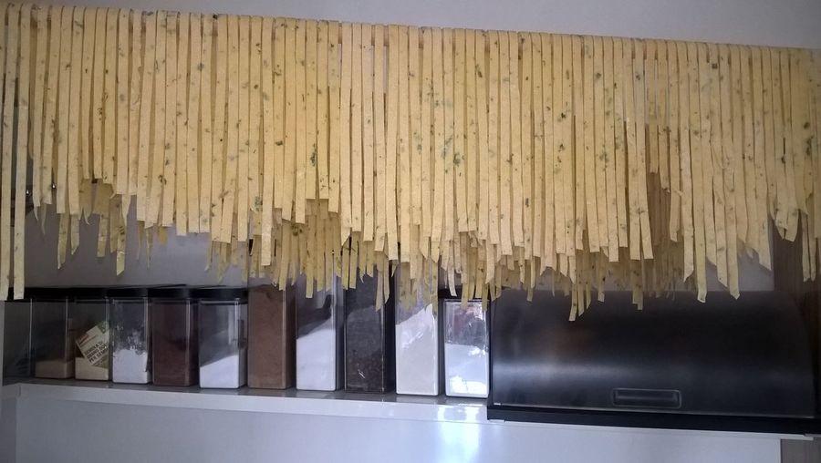 Fettucine Homemade Pasta With Her Homemade Pasta With Herbs Kräuternudeln Selbstgemacht Pasta