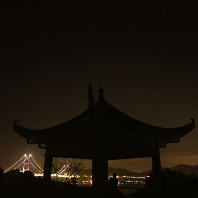 Silhouette Night Illuminated Arts Culture And Entertainment Built Structure Sky No People