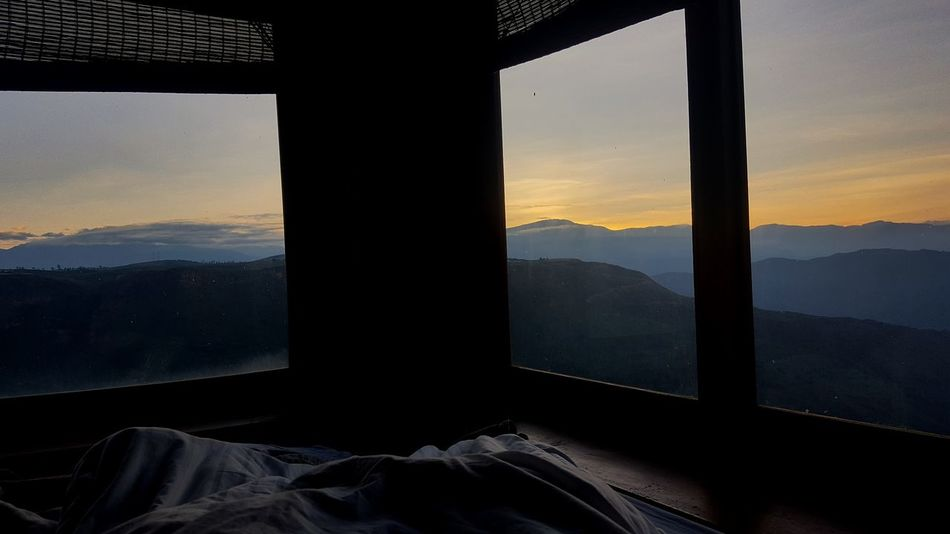 Landscape Sky Room Window Tranquility Nature Mountain Sunset Colombia