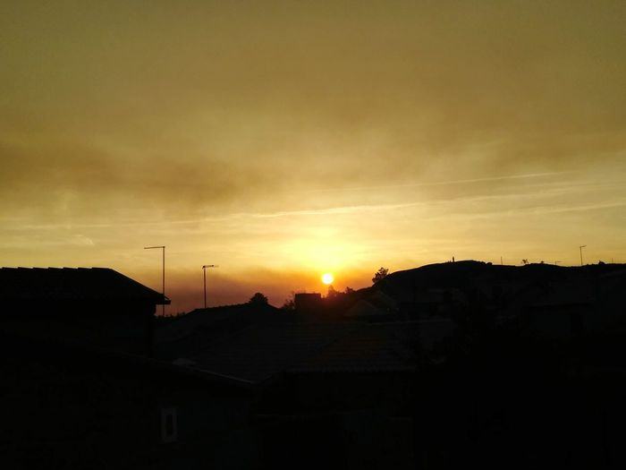 No People Sky Day Building Exterior Outdoors Politics And Government Red Sky Fire PrayForPortugal