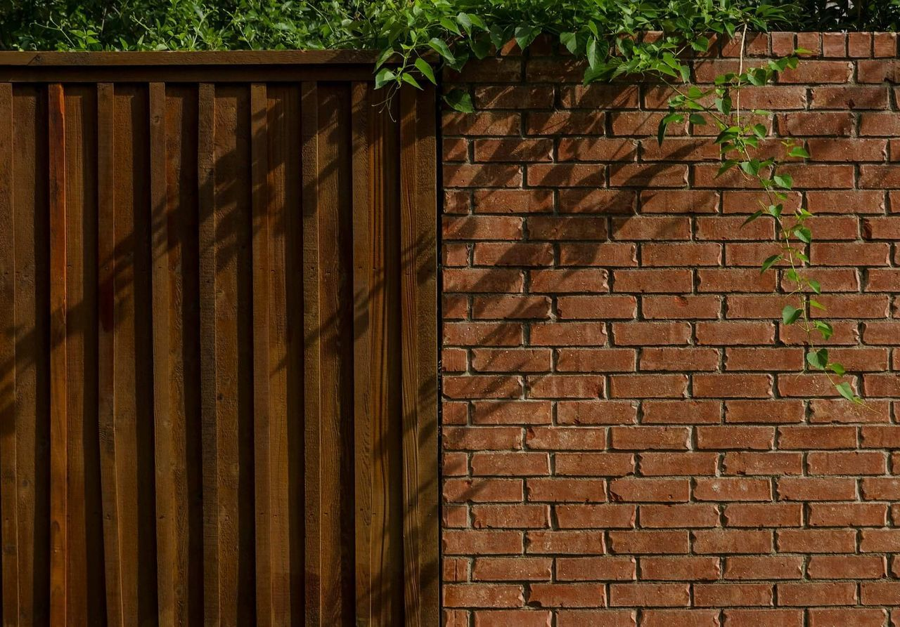 brick wall, safety, architecture, day, built structure, outdoors, plant, no people, building exterior, protection, brown, full frame, close-up, nature