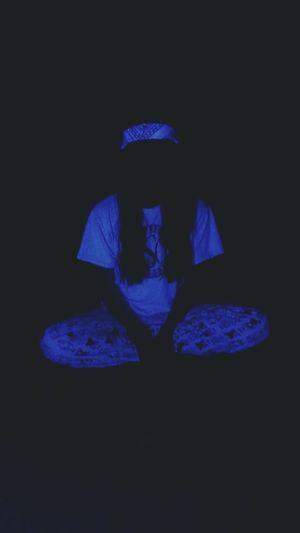 Meditating in the lovely black light