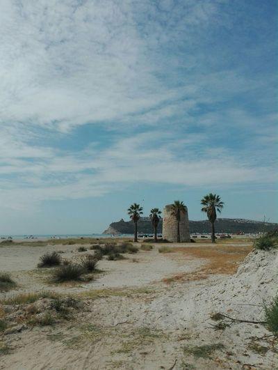 Poetto Torre Spiaggia Sole Mare Sole