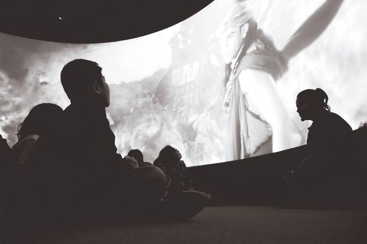 Children Museum Movietime  Blackandwhite