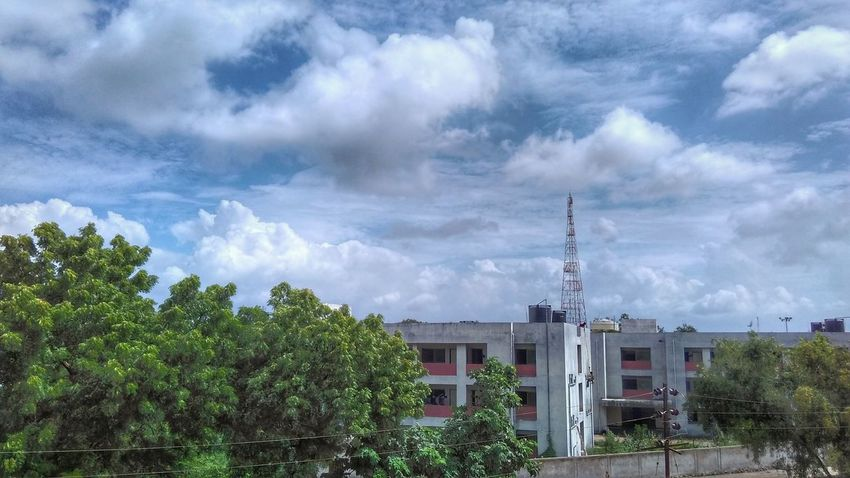 Built Structure Cloudscape Green Color Architecture Sky Cloud - Sky Outdoors Atmospheric Mood My Click 😎 Landscapes Taking Photos Blue Hello World Hdr_Collection Hdr Photography Enjoying Life HDR Nature_collection Nature Photography Natural Beauty Nature in Bharuch, India