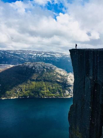 Preikestolen Fiord Landscape Nature Preikestolen Norway Water Cloud - Sky Sky Nature Sea Day Scenics - Nature Beauty In Nature Outdoors Tranquil Scene Idyllic Travel Destinations Tranquility Travel Holiday Moments EyeEmNewHere A New Perspective On Life