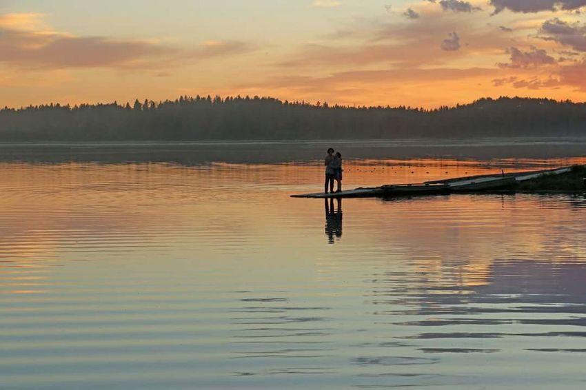 Sunset_collection Sunset Sunset Silhouettes Sunset #sun #clouds #skylovers #sky #nature #beautifulinnature #naturalbeauty #photography #landscape Lakeshore Lake Reflection Lovelovelove Beauty In Nature