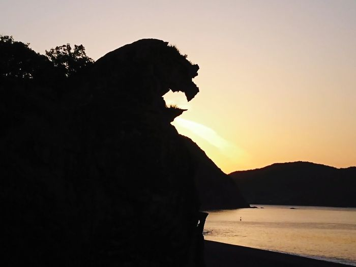 Lion Rock Kumanokodo Sunrise Wakayama,japan Mountain Sunset Silhouette Sky