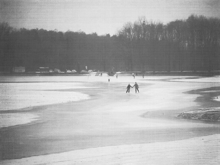 Winter in Dresden, years ago Landscape_Collection Blackandwhite Matte Black And White Moritzburg  Germany Dresden Saxony Winter Cold