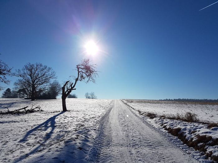 Sunlight Clear Sky Nature Outdoors Landscape No People Sky Sun Day Beauty In Nature Samsung Galaxy S7 Edge Foto Cold Temperature Winter Beauty In Nature Snow Blue