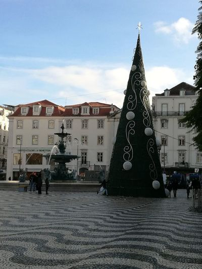Rossio Natal 2017 Lisboa Portugal Architecture Built Structure Building Exterior City Day Outdoors No People