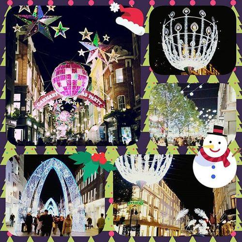 Pretty Christmaslights in London 😄 Christmas Oxfordstreet Fenwick
